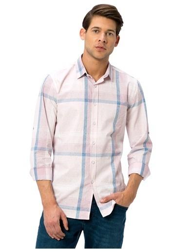 LC Waikiki Kareli Uzun Kollu Gömlek Pembe